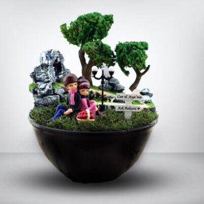 Ponçik Sevgililer Minyatür Bahçe - Thumbnail