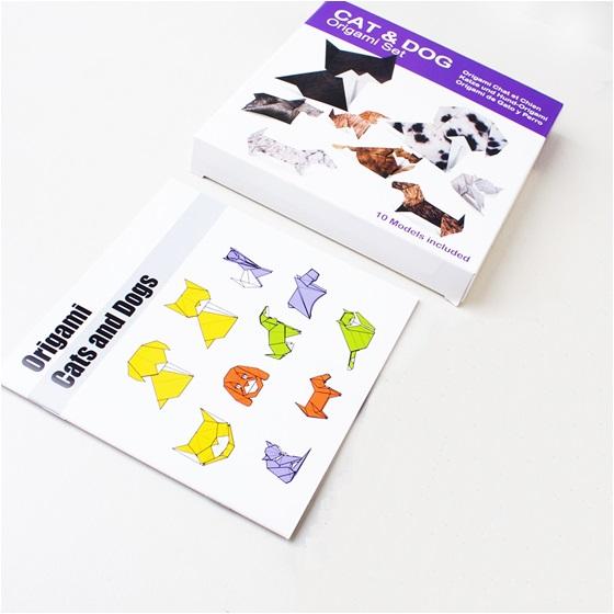 Pratik Kedi ve Köpek Origami Seti