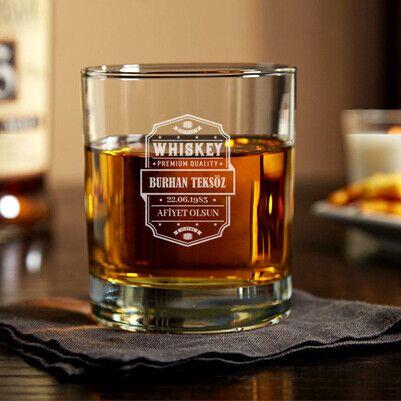 Premium Quality İsimli Viski Bardağı - Thumbnail