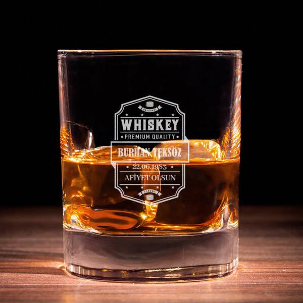 Premium Quality İsimli Viski Bardağı