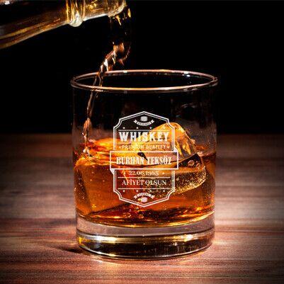 - Premium Quality İsimli Viski Bardağı