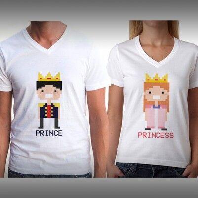 Prens ve Prenses İkili Tişörtleri - Thumbnail