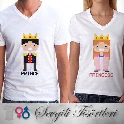 - Prens ve Prenses İkili Tişörtleri