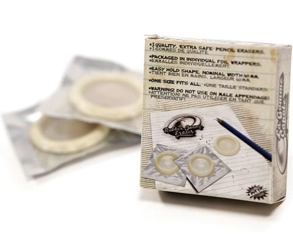 Prezervatif Şeklinde Kondom Silgi