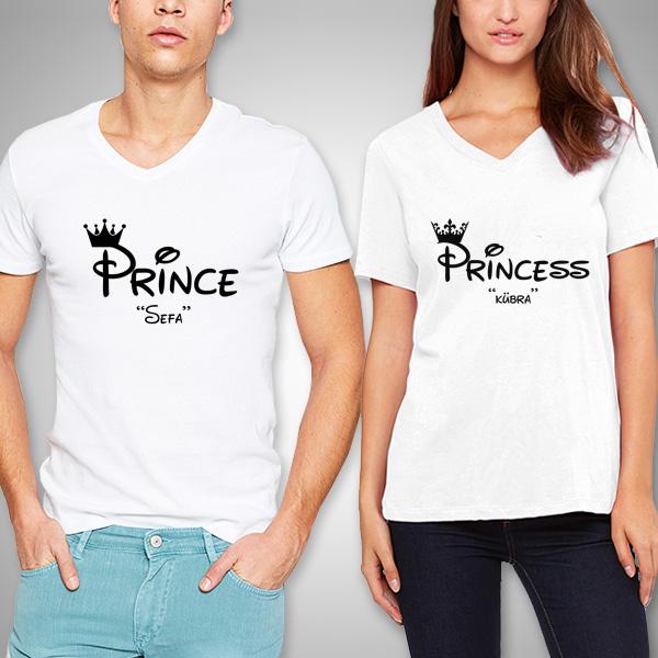 Prince And Princess Sevgili Tişörtleri