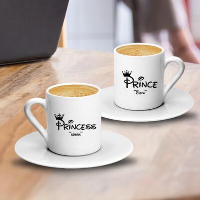 Prince & Princess İkili Kahve Fincanı - Thumbnail