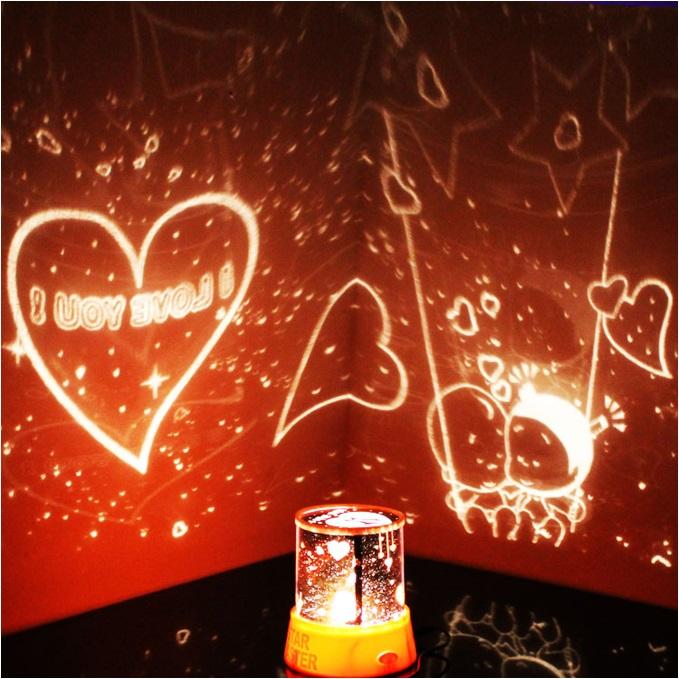 Projeksiyonlu Romantik Gece Lambası