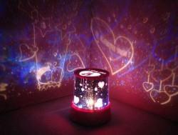 Projeksiyonlu Romantik Gece Lambası - Thumbnail