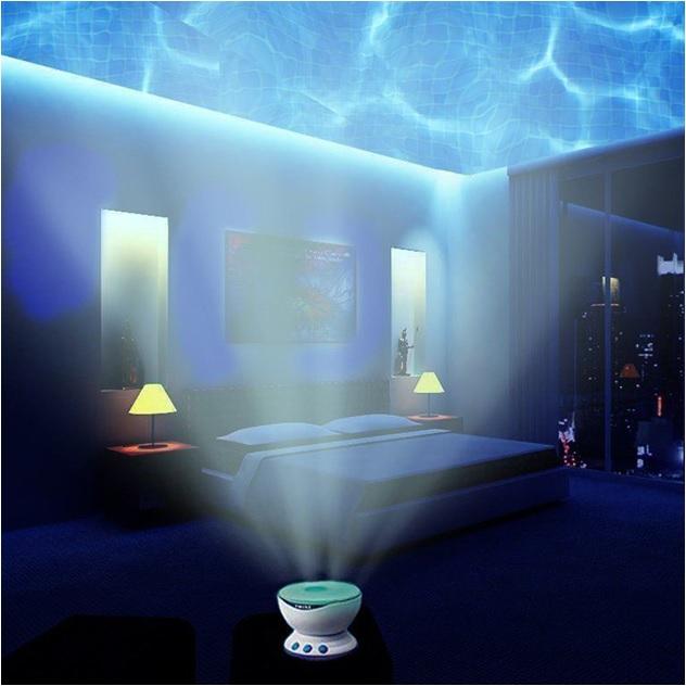 projeksiyonlu okyanus dalgalar gece lambas. Black Bedroom Furniture Sets. Home Design Ideas