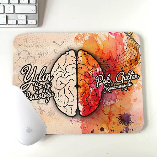 Psikologlara Özel İsim Yazılı Mousepad