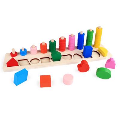Rakamlar ve Şekiller Zeka Geliştirici Oyuncak - Thumbnail