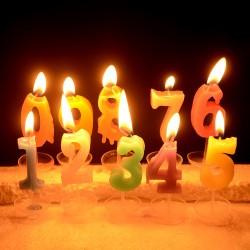 Rakamlı Doğum Günü Pasta Mumları - Thumbnail