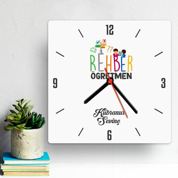 Rehber Öğretmenine Hediyelik Duvar Saati
