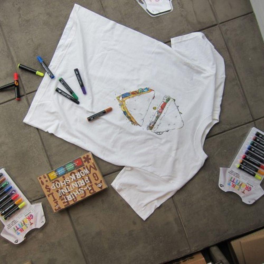 Rengarenk Grafiti Tişört Kalemleri