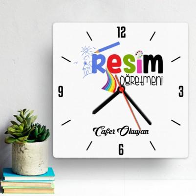 - Resim Öğretmenlerine Özel Duvar Saati