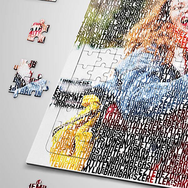 Resimli 100 Dilde Seni Seviyorum Puzzle