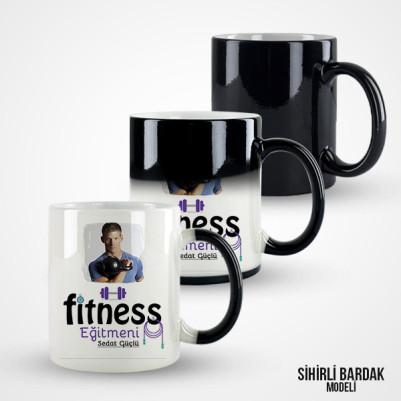 Resimli Fitness Eğitmeni Kupa Bardak - Thumbnail