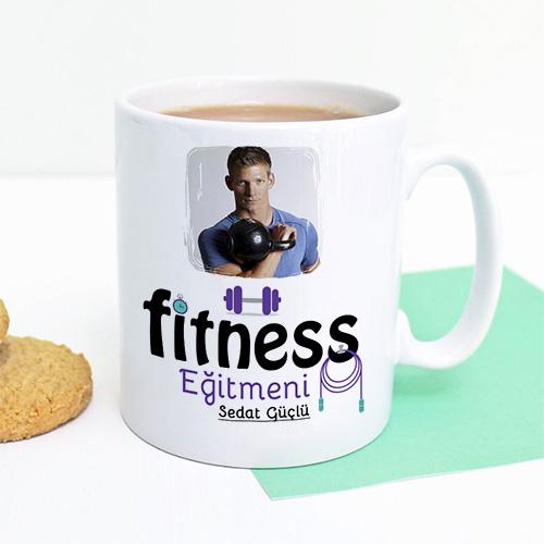 Resimli Fitness Eğitmeni Kupa Bardak