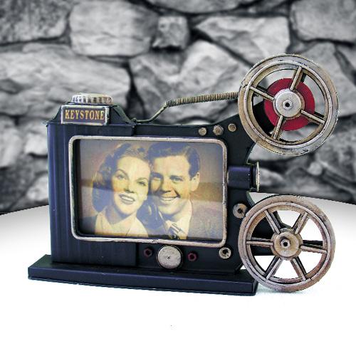Retro Film Makinesi Metal Resim Çerçevesi
