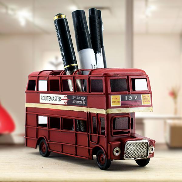 Retro Otobüs Kalemlik London Bus