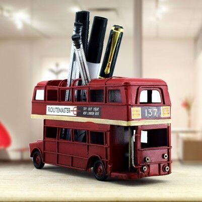 Retro Otobüs Kalemlik London Bus - Thumbnail