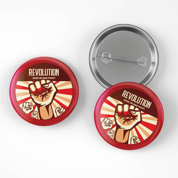 Revolution Tasarımlı Buton Rozet
