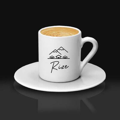 - Rize Temalı Kahve Fincanı