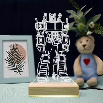 - Robot Tasarımlı 3d Led Lamba