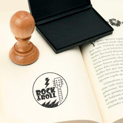 Rock & Roll Tasarım Kitap Mührü - Thumbnail