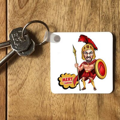 - Romalı Asker Karikatürlü Anahtarlık