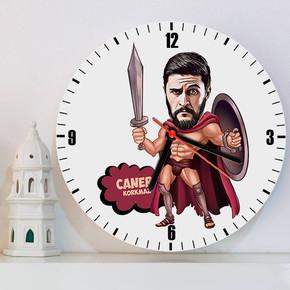 - Romalı Asker Karikatürlü Duvar Saati
