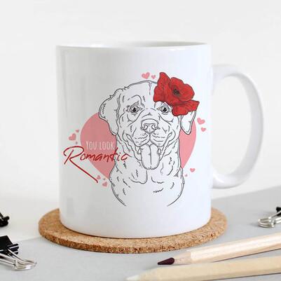 - Romantic Dog Tasarım Kupa Bardak