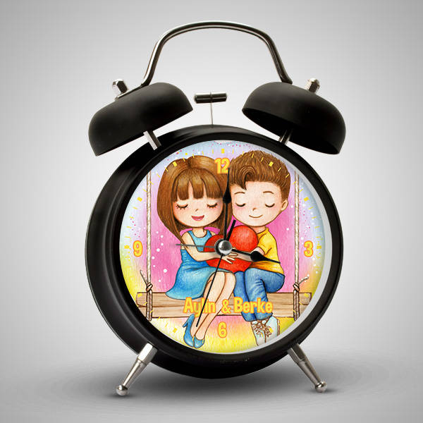 Romantik Aşıklar İsimli Çalar Saat
