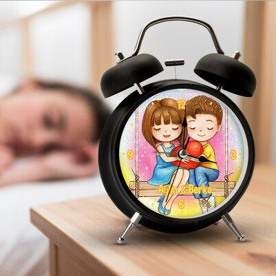 Romantik Aşıklar İsimli Çalar Saat - Thumbnail