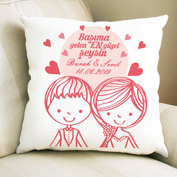 Romantik Aşıklar Sevgili Yastığı