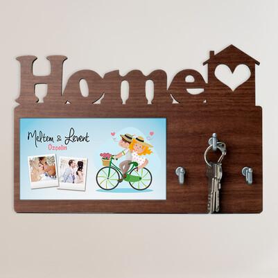 - Romantik Çiftler Home Anahtarlık Askısı