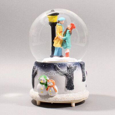 Romantik Çiftler Müzikli Kar Küresi - KB13 - Thumbnail