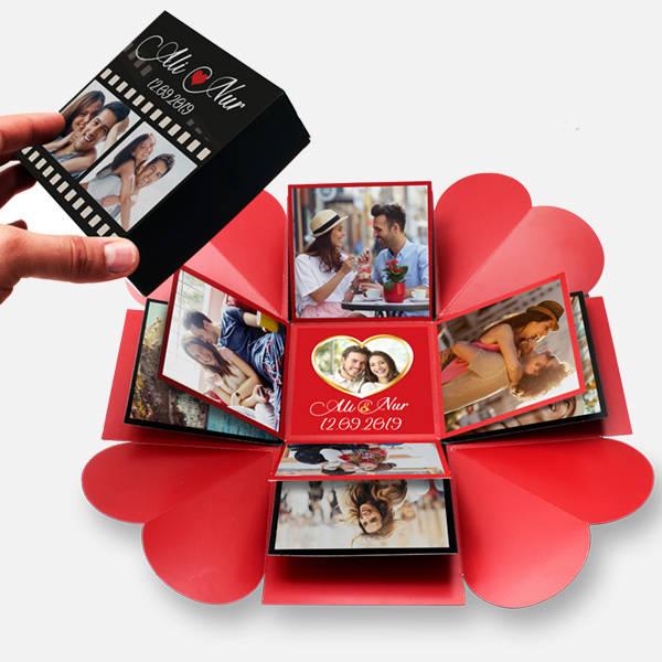 Romantik Film Şeridi Patlayan Kutu Sürprizi