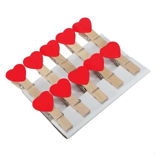 Romantik Kalp Fotoğraf Mandalları