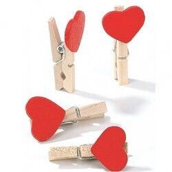 Romantik Kalp Fotoğraf Mandalları - Thumbnail
