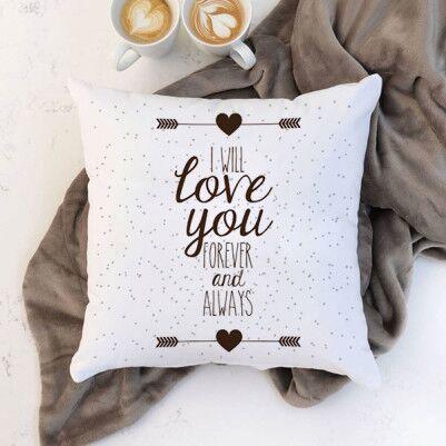 - Romantik Mesajlı İsme Özel Sevgili Yastığı