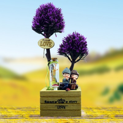 Romantik Ponçikler Dekoratif Biblo - Thumbnail