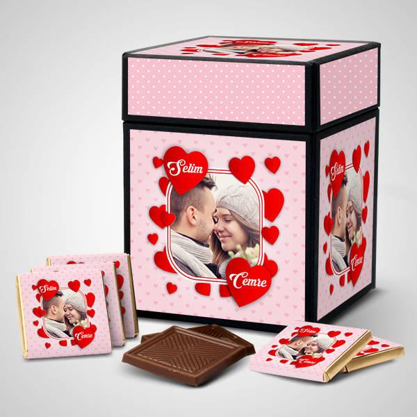 Romantik Sevgililer Özel Çikolata Kutusu