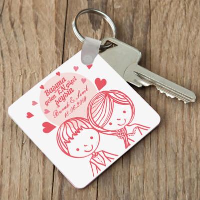 - Romantik Tasarım Sevgili Anahtarlığı