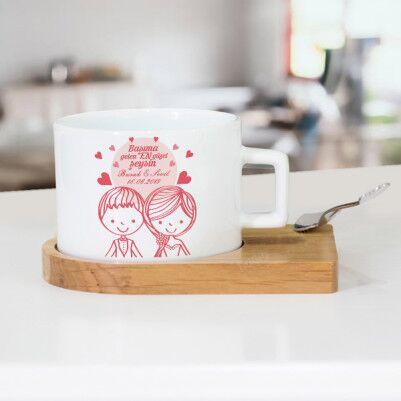 - Romantik Tasarım Sevgili Çay Fincanı