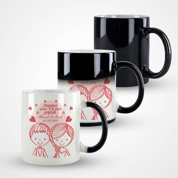 Romantik Tasarım Sevgili Kupa Bardağı