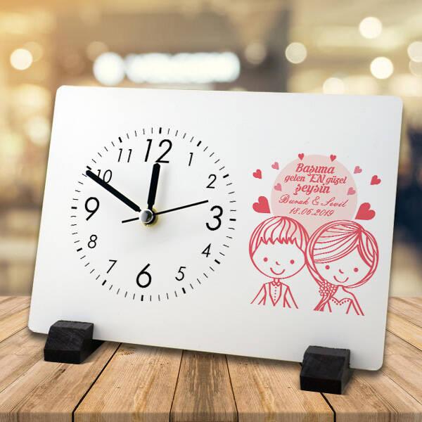 Romantik Tasarım Sevgili Masa Saati