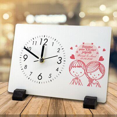 - Romantik Tasarım Sevgili Masa Saati