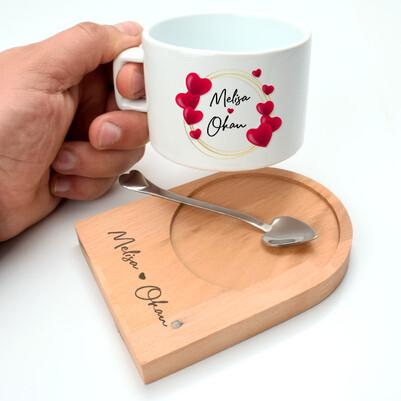 - Romantik Tasarım Sevgiliye Hediye Çay Fincanı