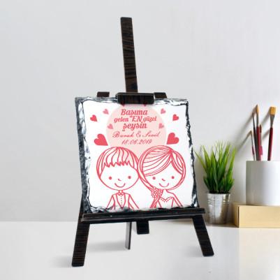 Romantik Tasarım Şövalye Ayaklı Taş - Thumbnail